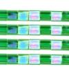 Miyuki Tila Beads 5X5mm 2 Hole Light Emerald Transparent Aurora Borealis